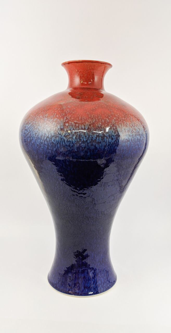 Imperial Red Blue Meiping | Elegant Ceramics Vase | Asian Pottery