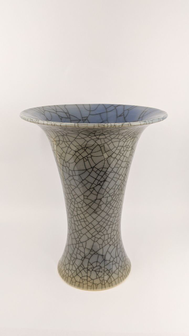Crackle Glaze Vase | Elegant Ceramics Vase | Asian Pottery