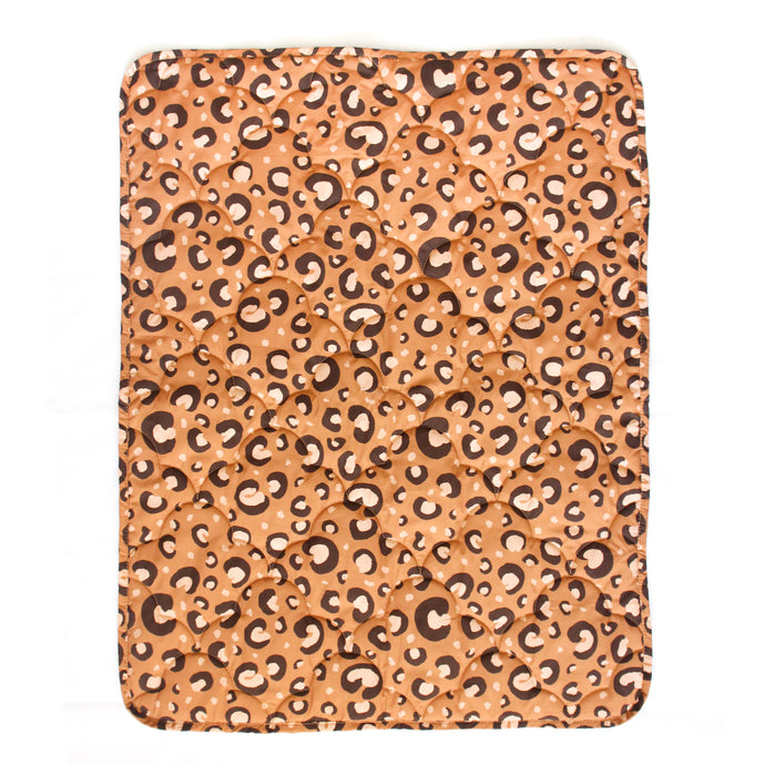 Leopard Print Quilted Blanket- Various Sizes
