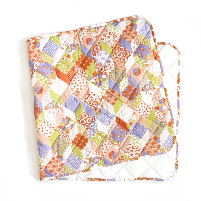 Pastel Patchwork Quilted Blanket- Various Sizes