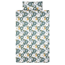 Load image into Gallery viewer, Retro Daisy Print Organic Cotton Duvet Set