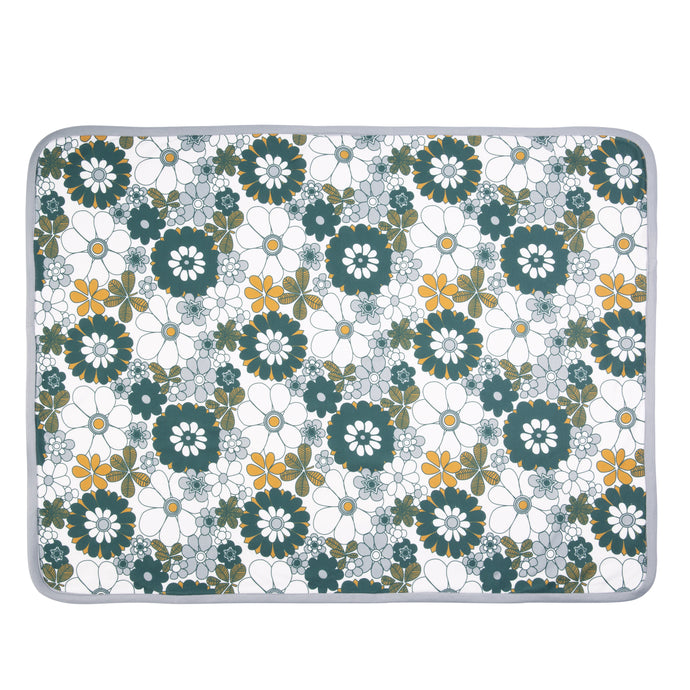 Retro Daisy Organic Cotton Baby Blanket with Personalised Option