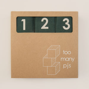 Forest Green Sensory Alphabet Blocks - Set of 9