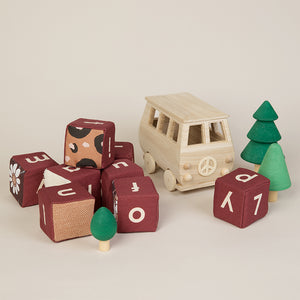 Personalised Mulberry Sensory Alphabet Blocks - SOLD AS SINGLE BLOCKS