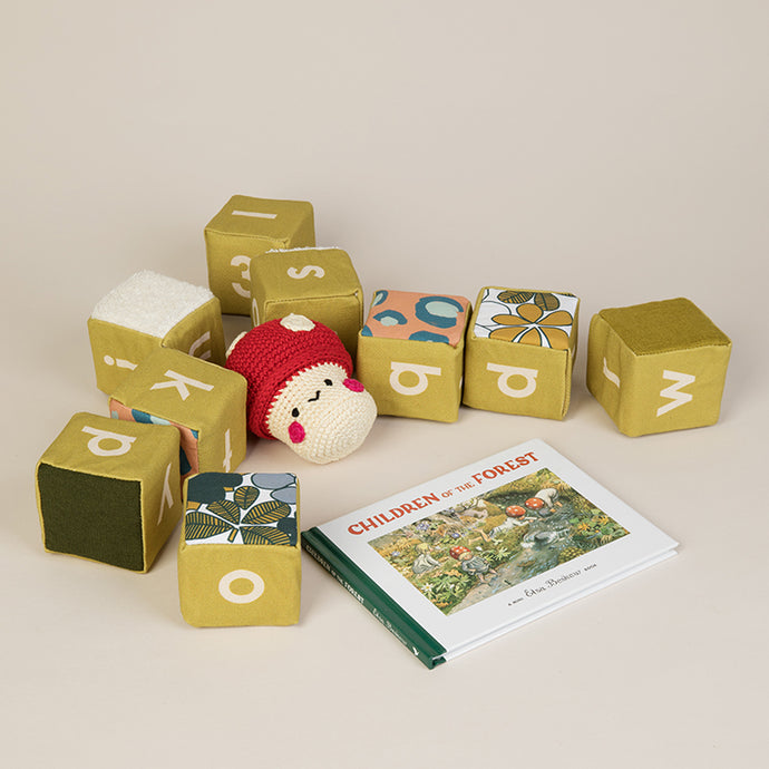 Personalised Avocado Sensory Alphabet Blocks - SOLD AS SINGLE BLOCKS