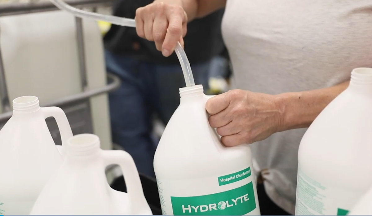 Hydrolyte® produced from 7 g/l sodium chloride solution contains 99.3% water.