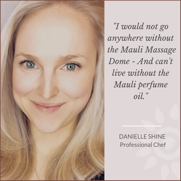 Danielle Shine Professional Chef loves Mauli rituals, ayurveda inspired Beauty Brand