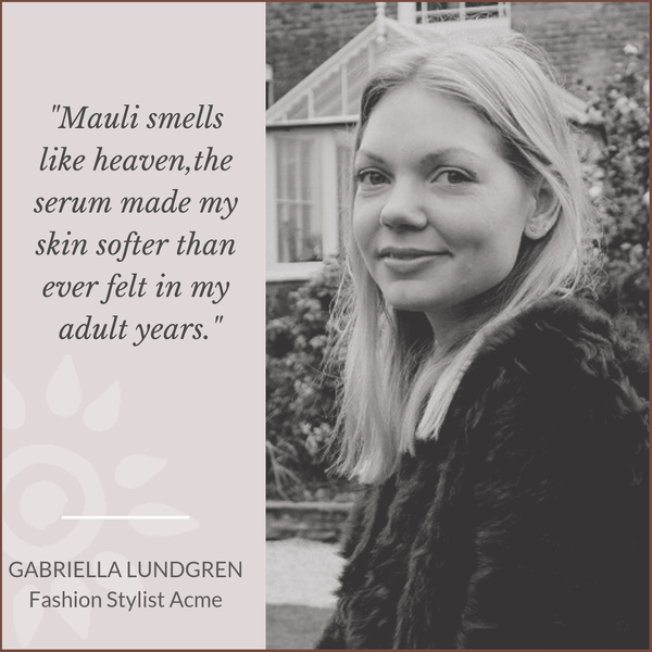 Gabriella Lundgren Fashion Stylist Acme loves Mauli Rituals, Ayurveda inspired Beauty Brand