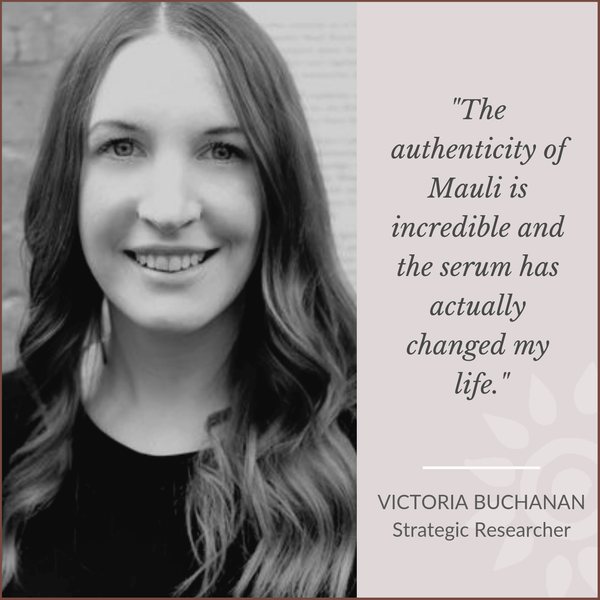Victoria Buchanan Strategic Researcher loves Mauli rituals, ayurveda inspired Beauty Brand