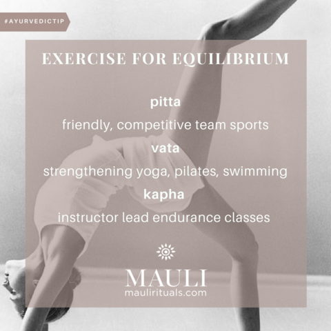 Exercise For Equilibrium | Mauli Rituals Blog