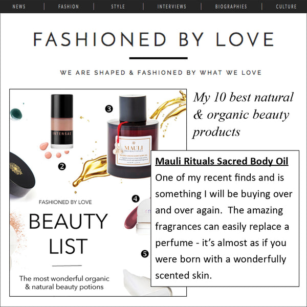 Mauli Sacred Union Scent & Dry Oil fashionedbylove.co.uk Top 10 Natural Products