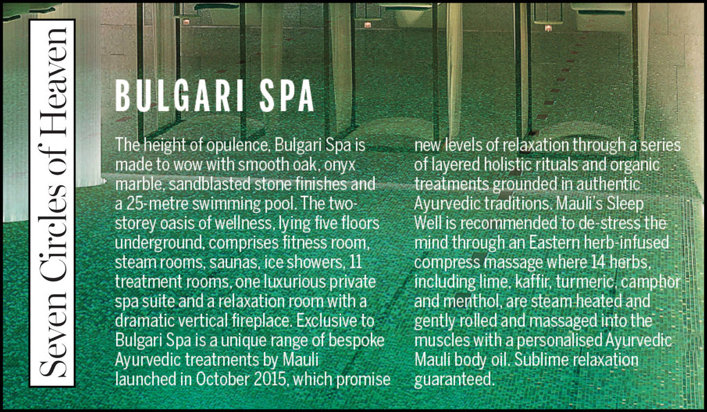 Mauli Ritual Bulgari Spa Treatments in New African Woman