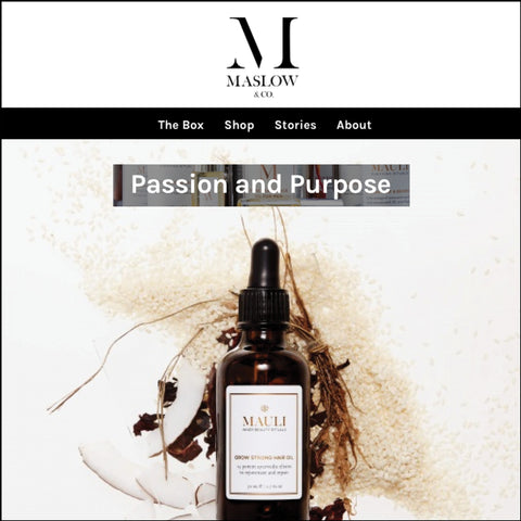 Mauli Grow Strong Hair Oil Q & A with Maslow & Co