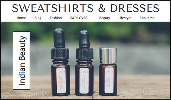 Mauli Rituals Grow Strong Hair Oil on sweatshirtsanddresses.com
