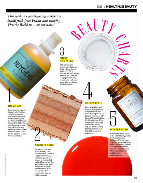 Mauli Radiance Facial Exfoliant in Grazia's Top Ten