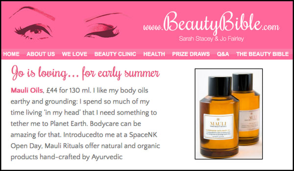 Jo Loves Mauli Rituals Dosha Massage Body Olis in the Beauty Bible