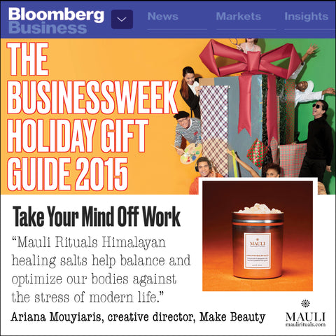 Mauli Rituals Himalayan Healing Salts on Bloomberg Business.  maulirituals.com