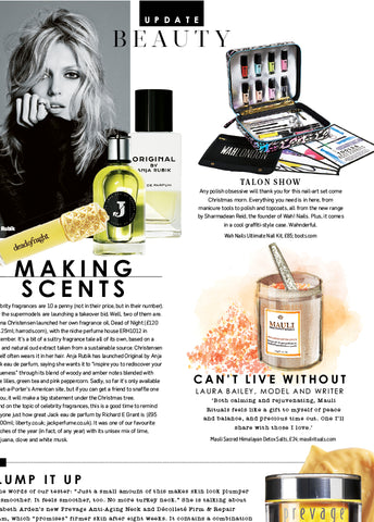 Mauli Sacred Himalayan Bath Salts in Sunday TImes Style Magazine