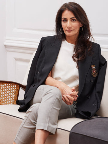 Anita Kaushal wearing Ralph Lauren for Sheer Luxe