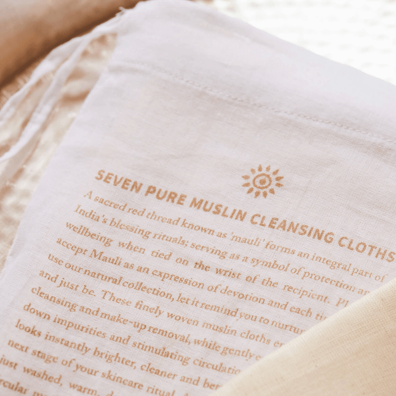 Seven Pure Muslin Cleansing Cloths