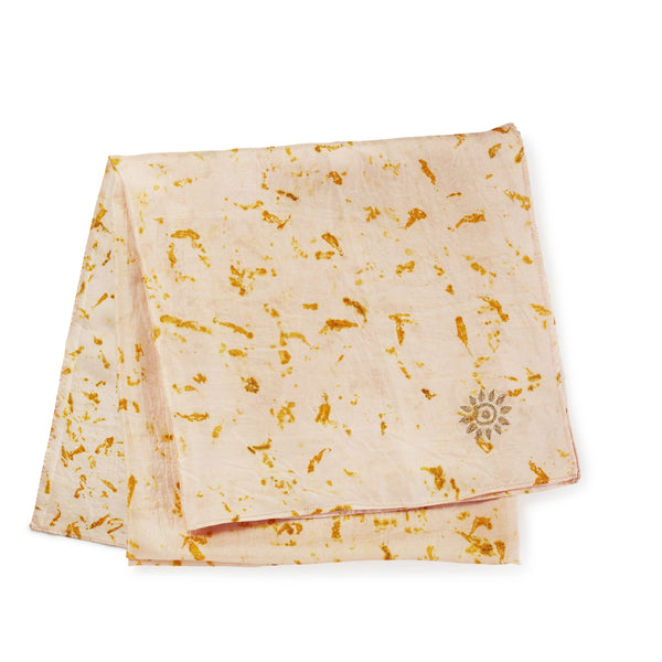 Temple Blessed, Pure Silk Scarf, 90 x 90cm