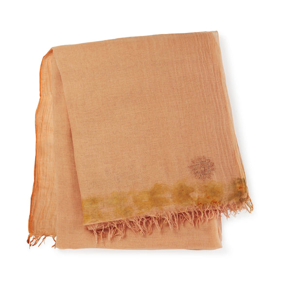 Hand-Spun, Temple Blessed Khadi Shawl