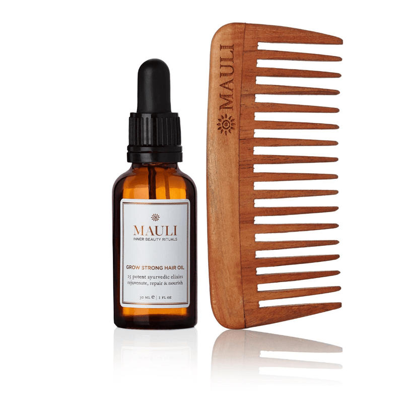 Grow Strong hair Oil 30ml with Natural Neem Comb