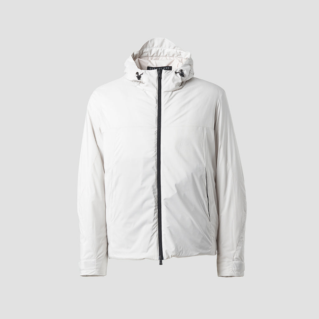 ECO INTELLIGENT INSULATED HOODY JACKET - cappotto impermeabile bianco - foto 4