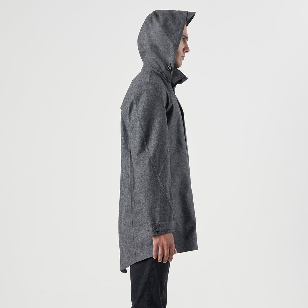 TECH WOOL HOODY FISHTAIL - Grigio - Foto 3