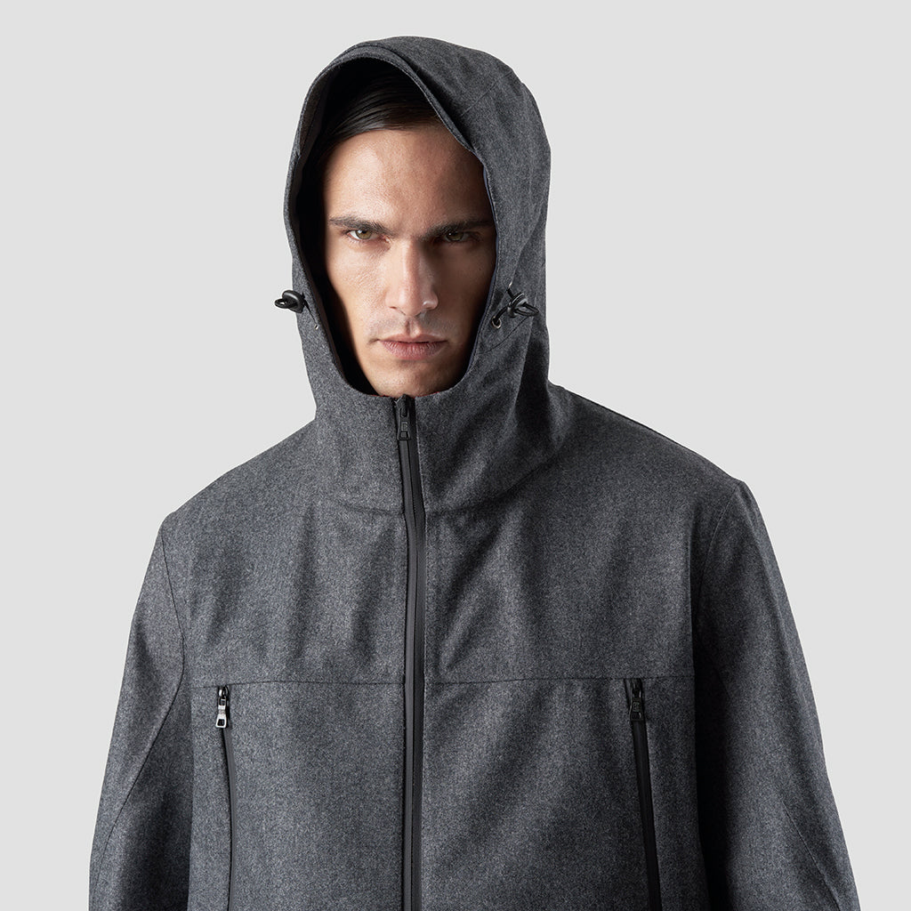 TECH WOOL HOODY SHELL