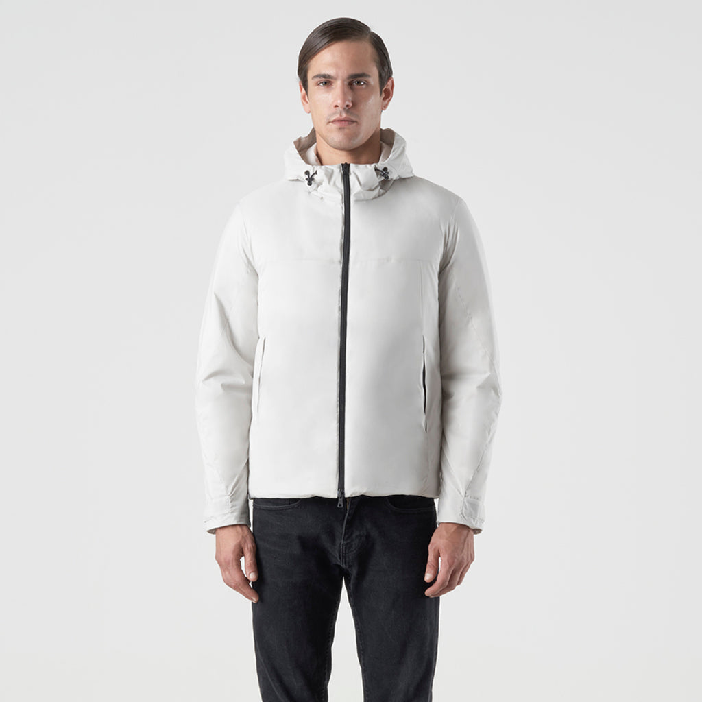 ECO INTELLIGENT INSULATED HOODY JACKET - cappotto impermeabile bianco - foto 1