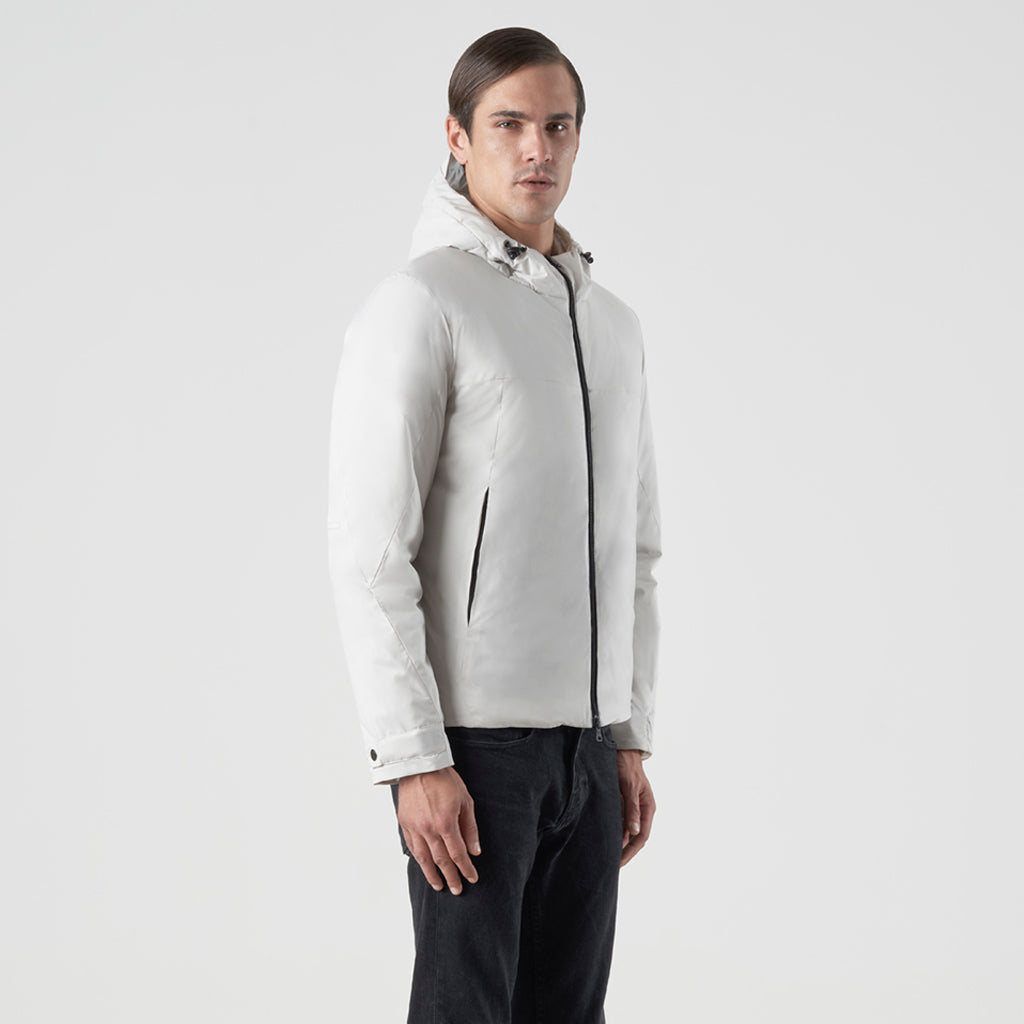 ECO INTELLIGENT INSULATED HOODY JACKET - cappotto impermeabile bianco - foto 2