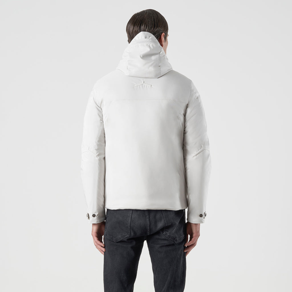 ECO INTELLIGENT INSULATED HOODY JACKET - cappotto impermeabile bianco - foto 3