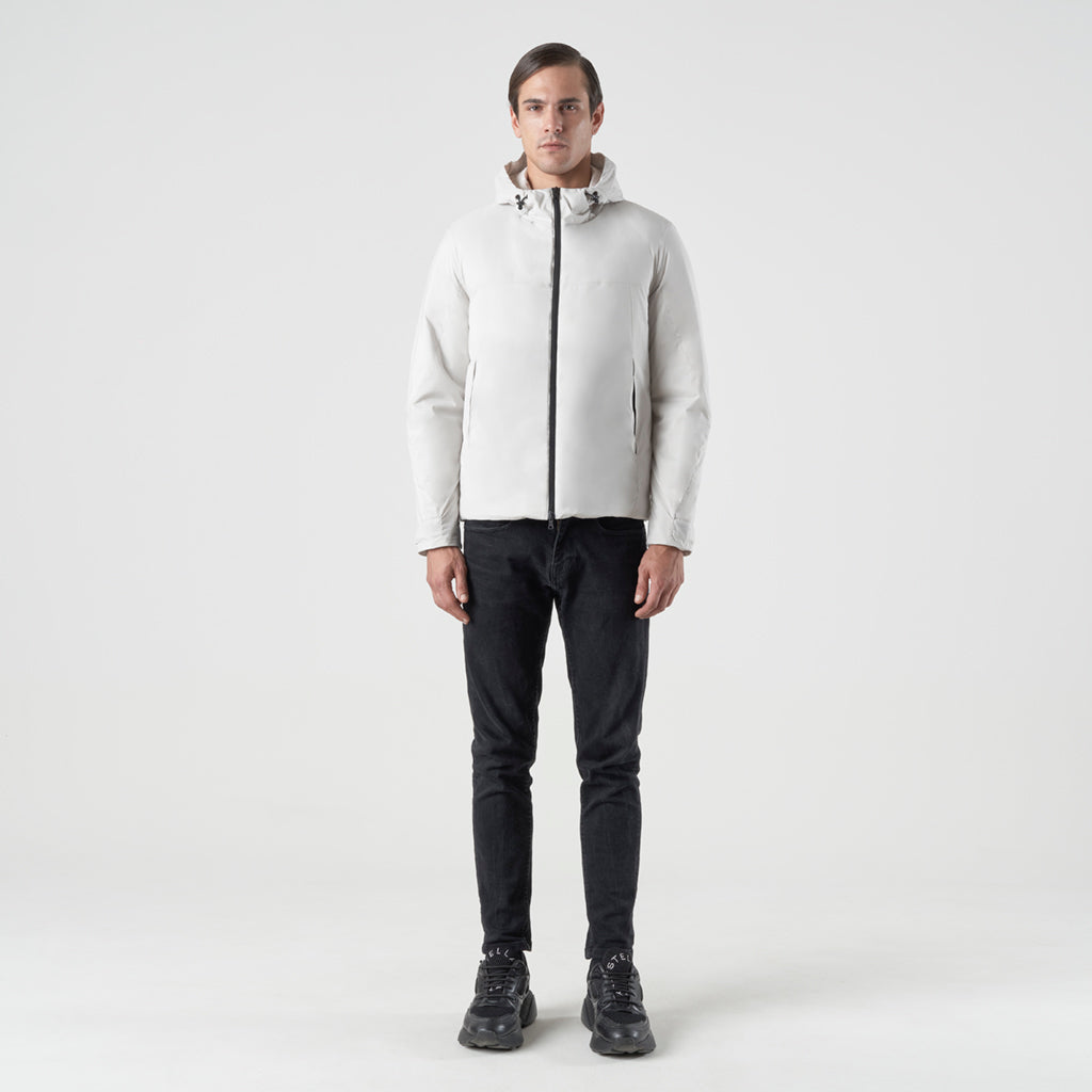 ECO INTELLIGENT INSULATED HOODY JACKET - cappotto impermeabile bianco - foto 5