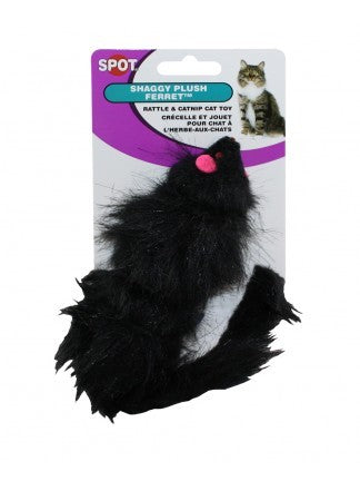 Ethical Products Spot Shaggy Plush Ferret Rattle & Catnip Cat Toy
