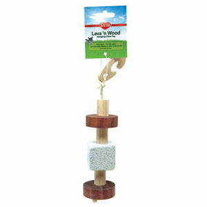Kaytee Super Pet Natural Pumice & Wood Hanging Toy
