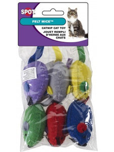 Ethical Products Spot Felt Mice With Catnip Assorted 6pk