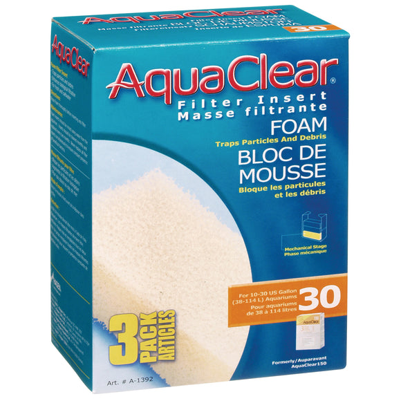 AquaClear 30 (150) Foam Filter Insert | 3/PK