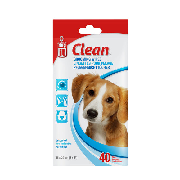 Dogit Clean Grooming Wipes 40pk