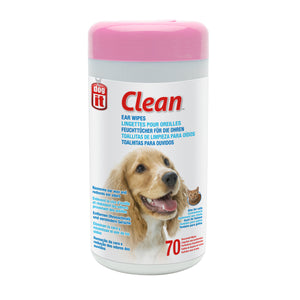 Dogit Clean Ear Wipes Unscented 70 pcs