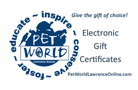 Online Only Electronic Gift Certificate