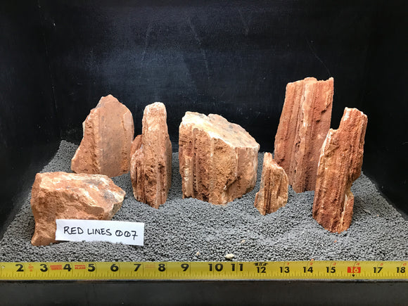 Red Line Stone | 10 lbs. Selected | #007