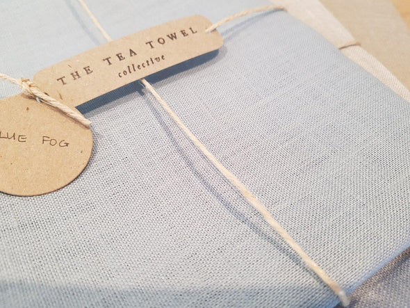 The Tea Towel Collective - Blue Fog Linen Tea Towel - Raw Cottage