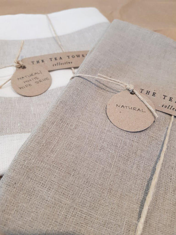 The Tea Towel Collective - Natural Linen Tea Towel - Raw Cottage