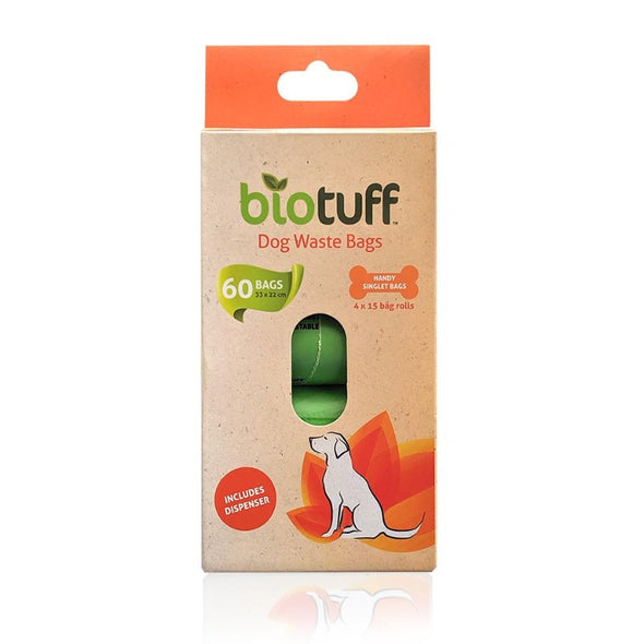 Biotuff Dog Waste Bags and Dispenser Pack