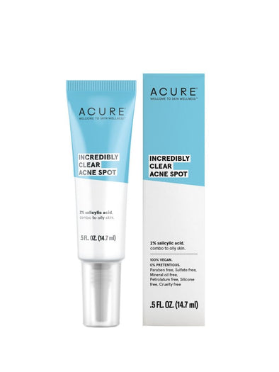 Acure - Incredibly Clear Acne Spot Treatment - 14.7ml - Raw Cottage