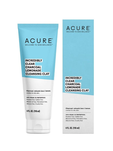 Acure - Incredibly Clear Charcoal Lemonade Facial Scrub - 118ml - Raw Cottage