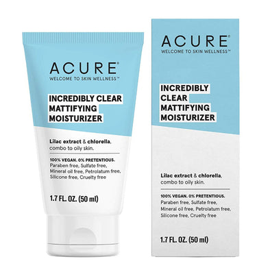 Acure - Incredibly Clear Mattifying Moisturiser - 50ml - Raw Cottage
