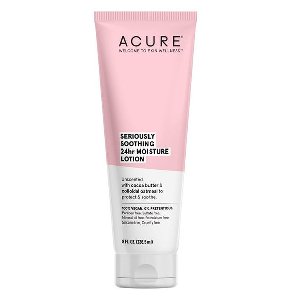 Acure - Seriously Soothing 24 hour Moisturising Lotion - 236ml - Raw Cottage