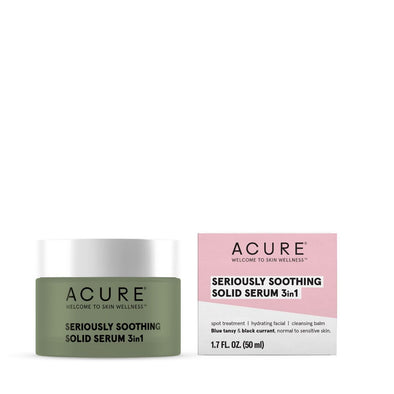 Acure - Seriously Soothing Solid Serum 3 in 1 - 50ml - Raw Cottage